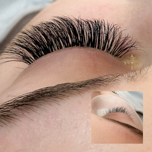 before and after inset lashes