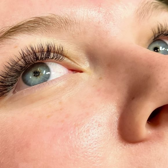 Blue eyes with eyelash extensions from Beauty Time Canada Portfolio