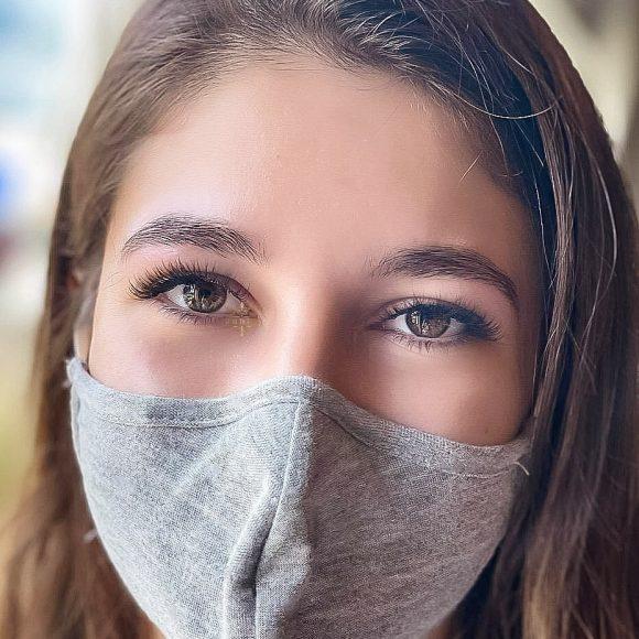 Client close up lash extesnions beauty time barrhaven