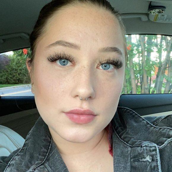 Beauty time client lash extensions